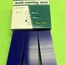 CERA PER MODELLAZIONE MATT A FETTE BLUE/ WAX CARVING SLICES BLUE