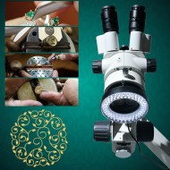 MICROSCOPIO PER INCASSATORI TRINOCULARE/trinocular microscope with camera