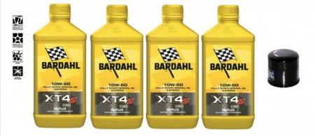 BARDAHL XT4-S C60 10W60 OLIO MOTO SINTETICO RACING + FILTRO OLIO HF204