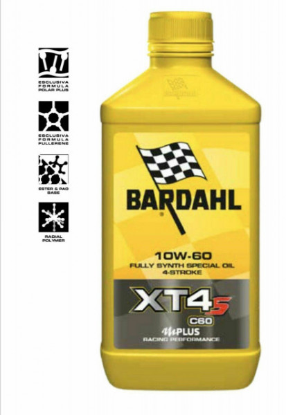 BARDAHL XT4-S C60 10W-60 OLIO MOTO SINTETICO RACING PERFORMANCE 1 LITRO