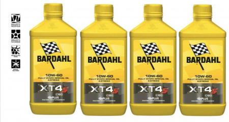 BARDAHL XT4-S C60 10W60 OLIO MOTO SINTETICO RACING CONFEZIONE KIT 4 LITRI
