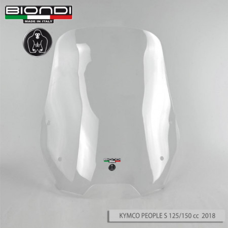 PARABREZZA KYMCO PEOPLE S 125 i // 150i ABS 33476 paravento lastra 4mm solo lastra ART 2018
