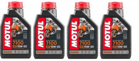 4 LITRI OLIO MOTUL 7100 15W50 RACING 100 % SINTETICO MOTO SCOOTER