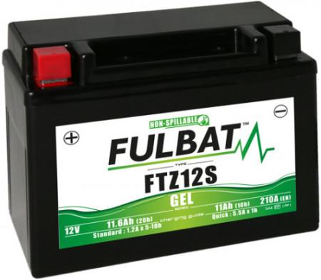 FTZ12S FULBAT BATTERIA A GEL PRONTA ALL'USO YTZ12S HONDA SH 300 DAL 2007 A 2020