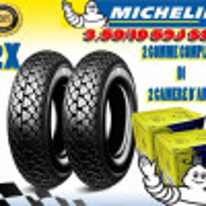 2 PNEUMATICI + 2 CAMERA D'ARIA Michelin S83 PER VESPA PX 125 150 200 3.50.10
