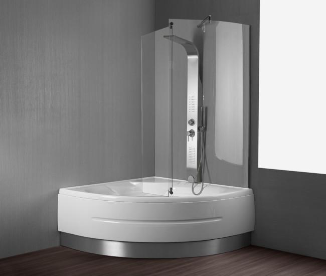 Vasca da bagno montreal 140x140 cm for Vasche da bagno con doccia