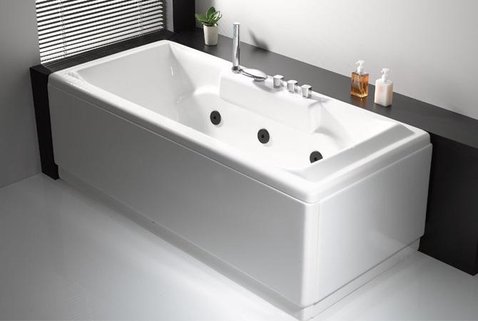 Vasca Da Bagno Rettangolare : Vasca da bagno centro stanza kasia cm l