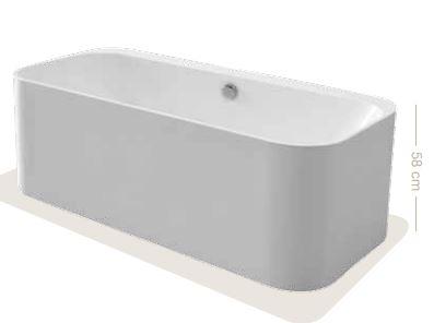Dimensioni Altezza Vasca Da Bagno : Lady sara vasca da bagno rettangolare