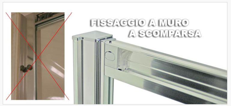 Box doccia componibile con porte scorrevoli evolution for Doccia a muro