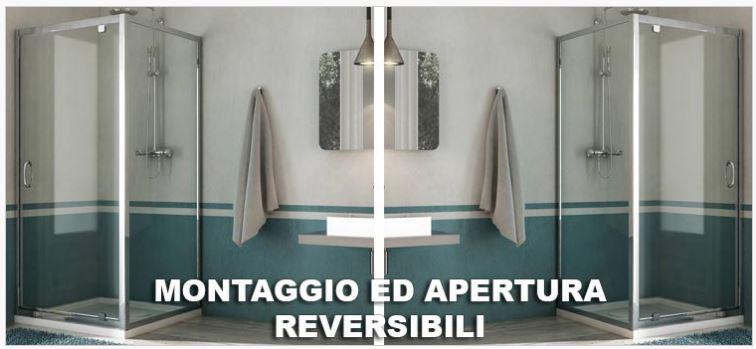 Box doccia con porta battente a 1 anta sintesi - Montaggio porta battente ...