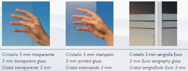 """Box doccia 3 lati in cristallo """"adria""""   apertura angolare scorrevole"""