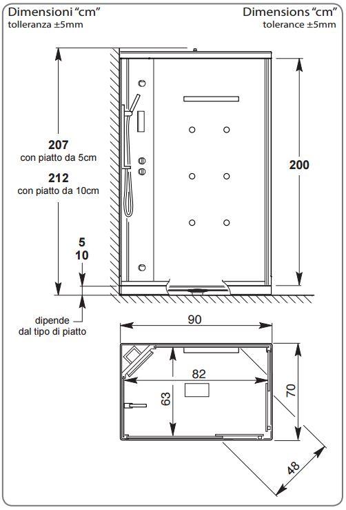 Doccia Rettangolare Dimensioni: Piatto doccia quadrato rettangolare irregolare Cose di Casa.