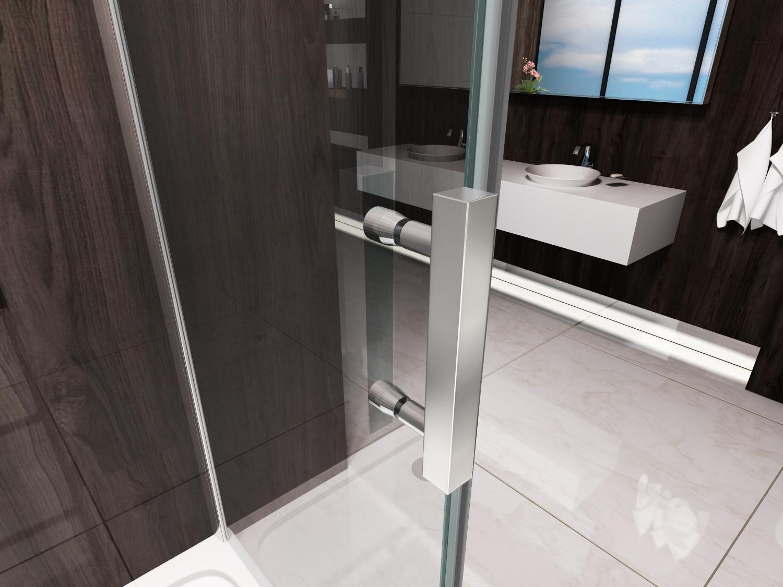 Box doccia con anta fissa e porta scorrevole 045f - Maniglia porta scorrevole ...
