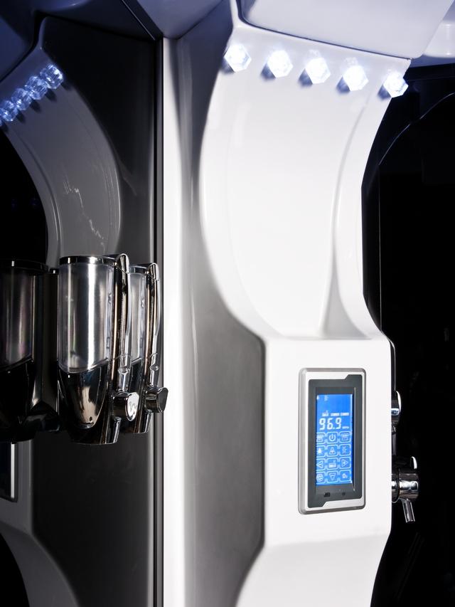 Cabina doccia idromassaggio con bagno turco dim 120x85 ebay - Porta saponi doccia ...