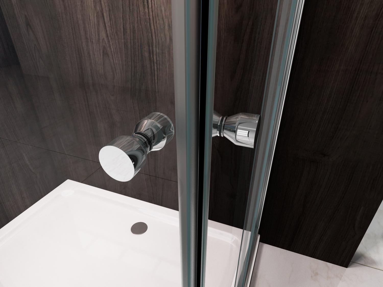 Box doccia in cristallo con doppia porta scorrevole angolare ebay - Piatto doccia raso pavimento ...