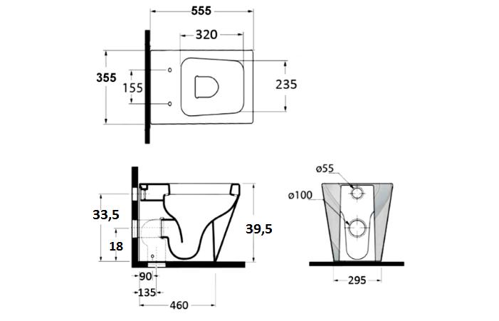 Sanitari a terra filo muro square copri vaso frizionato for Tazza del bagno