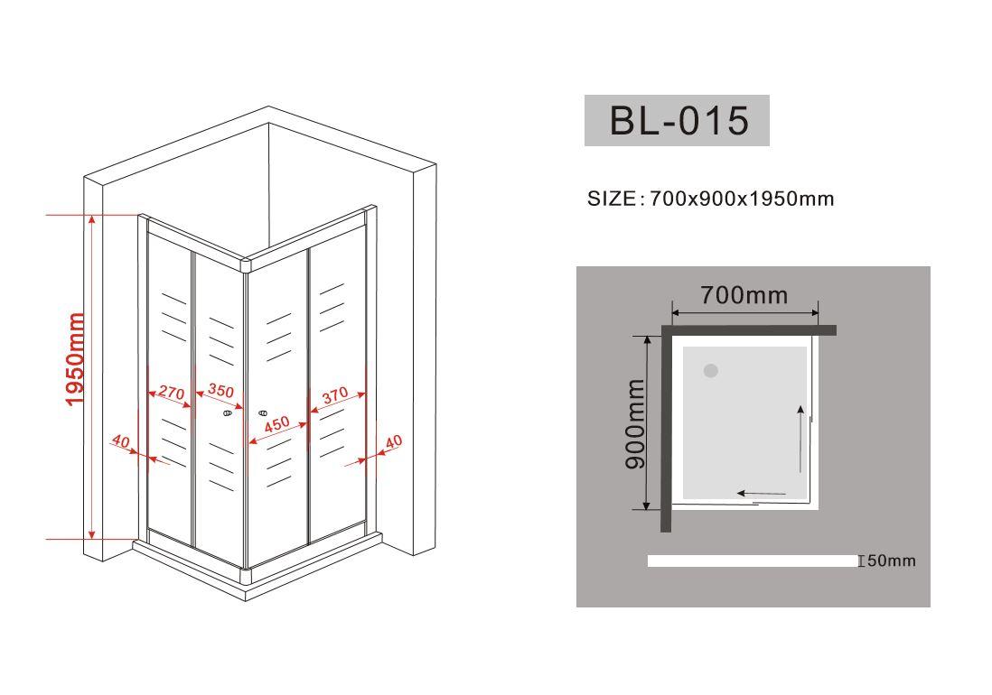 Box doccia in cristallo con doppia porta scorrevole 015 - Piatto doccia raso pavimento ...