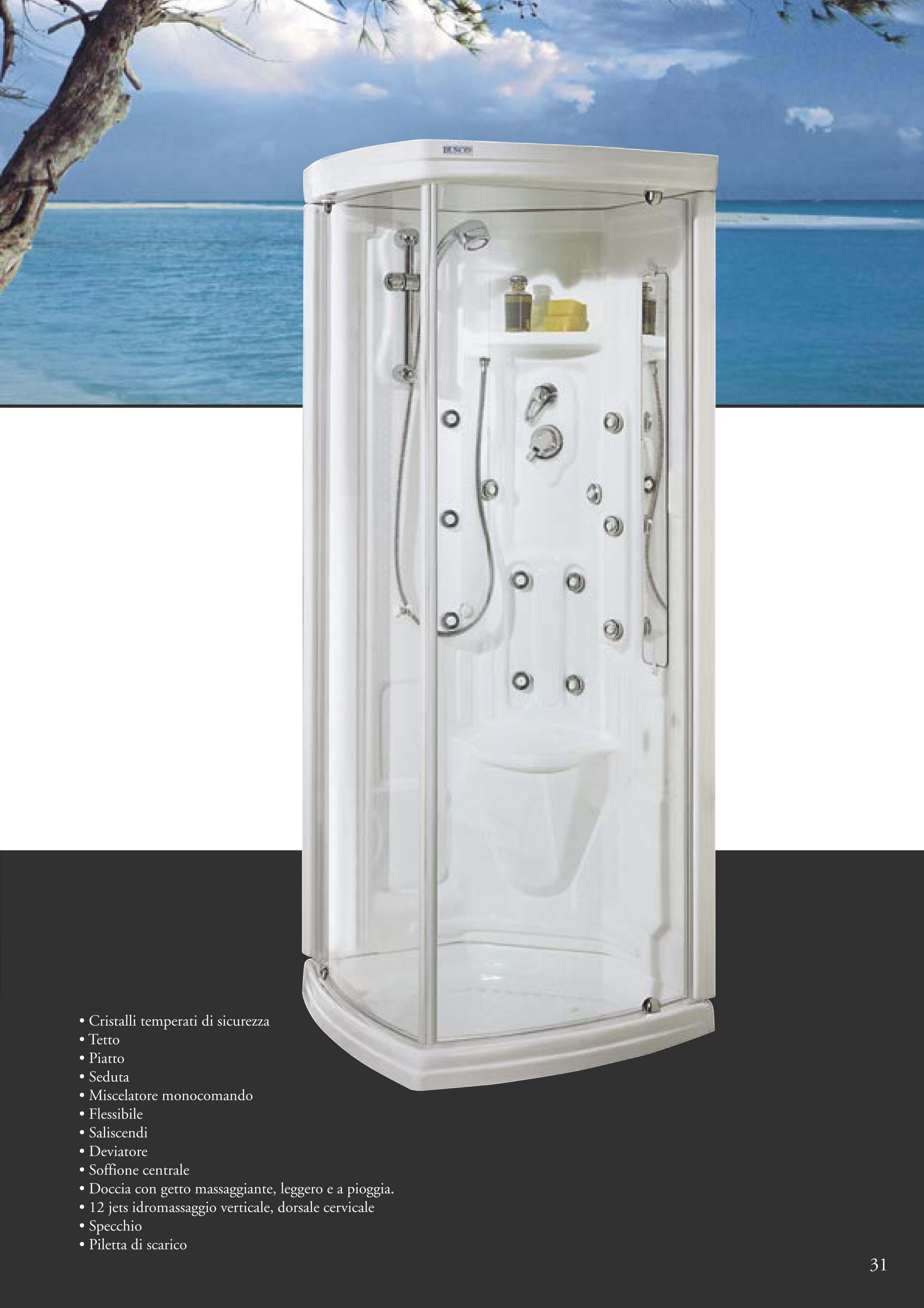 Cabina doccia idromassaggio 12 jets   80x80 h. 207 'oregon'