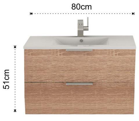 Composizione arredo bagno b082 - Mobile bagno misure ...