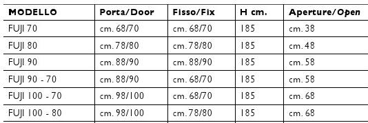 Misure Per Box Doccia.Box Doccia In Cristallo Fuji Apertura A Libro