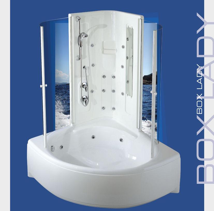 Box doccia per vasca idromassaggio 6 jets e tastiera digitale 39 lady 39 - Vetro doccia per vasca ...