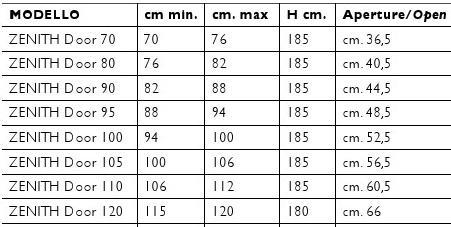 Misure Per Box Doccia.Box Doccia In Cristallo Zenith