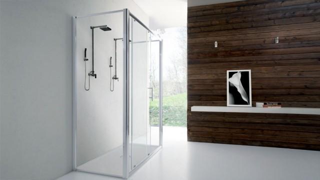 Cabine Doccia Cristallo : Box doccia nicchia cm fuori misura in cristallo ingresso