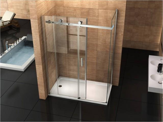 Box doccia con anta fissa e porta scorrevole 045f - Porta doccia 120 ...