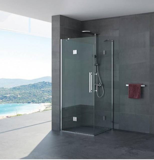 Box doccia doppia porta battente romina profili in - Box doccia porta battente ...