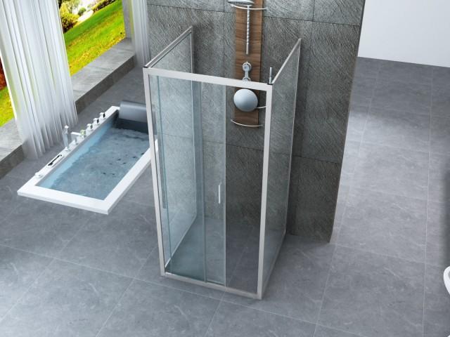 Box Doccia Cristallo Anta Fissa : Box doccia in cristallo anta fissa piu porta scorrevole