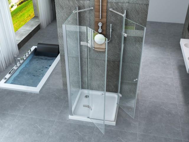 Box Doccia Cristallo Costo : Box doccia in cristallo centro stanza con doppia porta
