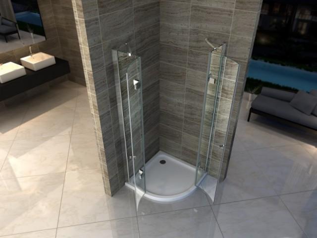 Piatto doccia acrilico semicircolare for Piletta doccia filo pavimento