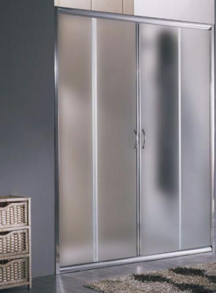 Porta per doccia a nicchia apertura centrale doppia anta - Misure porta scorrevole ...