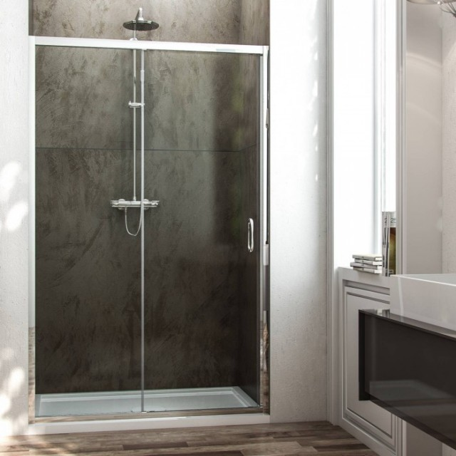 Porta scorrevole per doccia a nicchia replay - Vetro doccia scorrevole ...