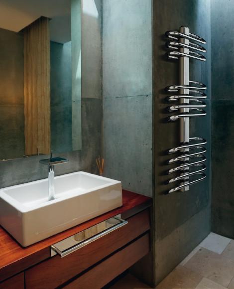 Radiatore da bagno siena cromato exclusive - Termoarredo bagno cromato ...