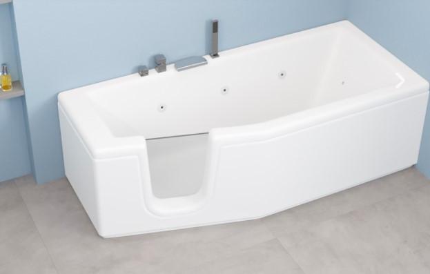 Vasca Da Bagno Salvaspazio Con Sportello Compact 150x70 170 X70