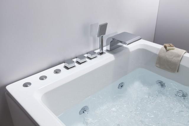 Vasca idromassaggio angolare centro stanza o incasso for Vasca centro stanza
