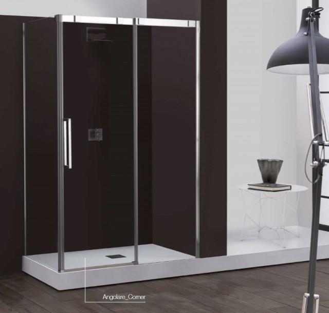 Box doccia anta scorrevole con sistema soft close 8psc15 - Chiusura doccia scorrevole ...