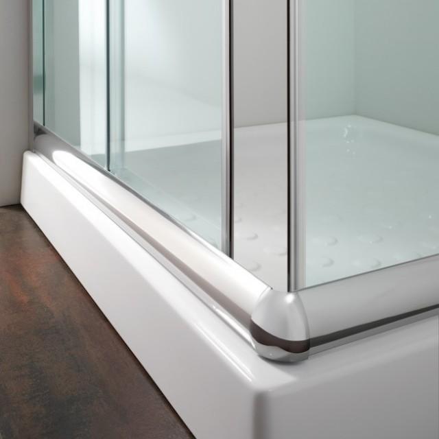 Box doccia con doppia porta scorrevole alabama 200 - Altezza box doccia ...