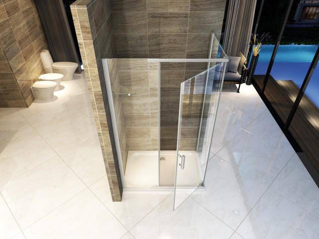 Box doccia in cristallo apertura battente interna ed esterna 1018 novit 2018 - Prezzo porta interna ...