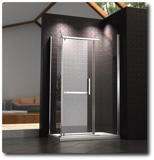 Box doccia in cristallo con apertura a battente interna 1020 for Box doccia cristallo
