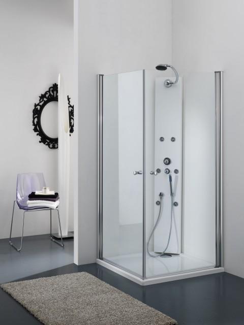 Box doccia in cristallo star doppia apertura battente totale interno esterno - Siliconare box doccia interno o esterno ...