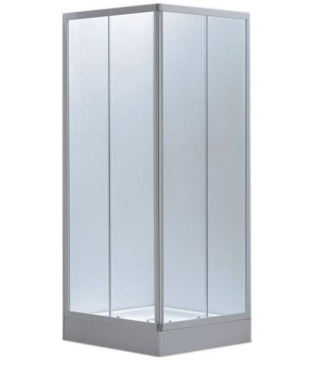 Box doccia in vetro opaco doppia apertura scorrevole b70 810 - Vetro doccia scorrevole ...