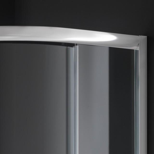 Box doccia in vetro semicircolare doppia porta scorrevole for Doppia porta scorrevole