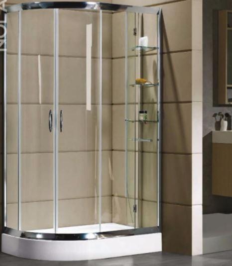 Box doccia semicircolare asimmetrico doppia porta - Porta scorrevole doppia ...