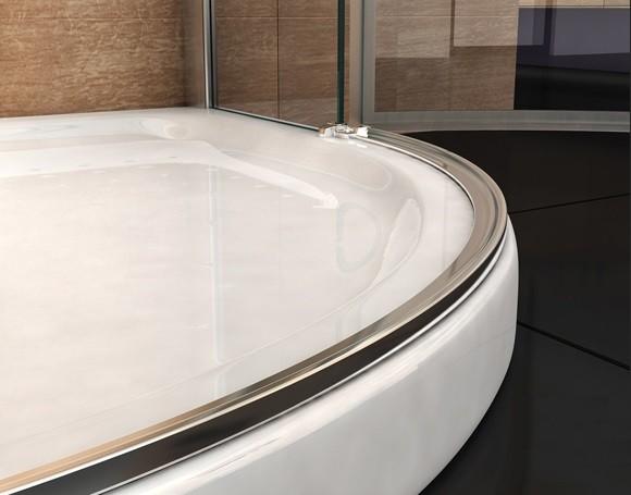 Box doccia semicircolare doppia porta battente 050 - Box doccia porta battente ...