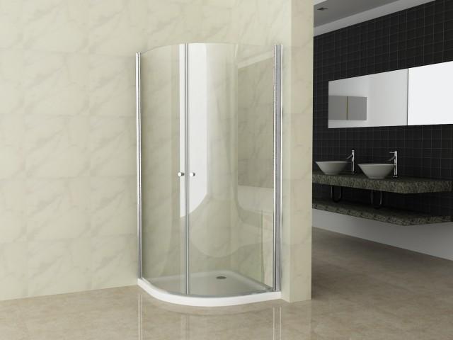 Box doccia semicircolare in cristallo trasparente 6mm - Altezza box doccia ...