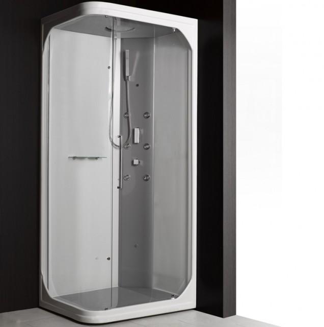 Cabina doccia idromassaggio angolare luis - Cabina doccia senza piatto ...