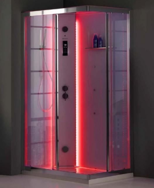 Cabina Doccia Multifunzione 100x80.Cabina Doccia Multifunzione White Space Vapor Rettangolare