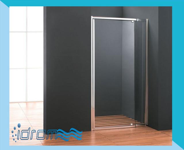Porta doccia nicchia con anta battente cristal for Porta battente